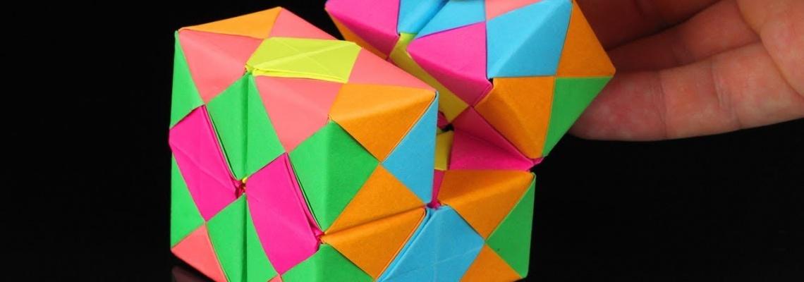 آموزش اوریگامی (مکعب کاغذی)