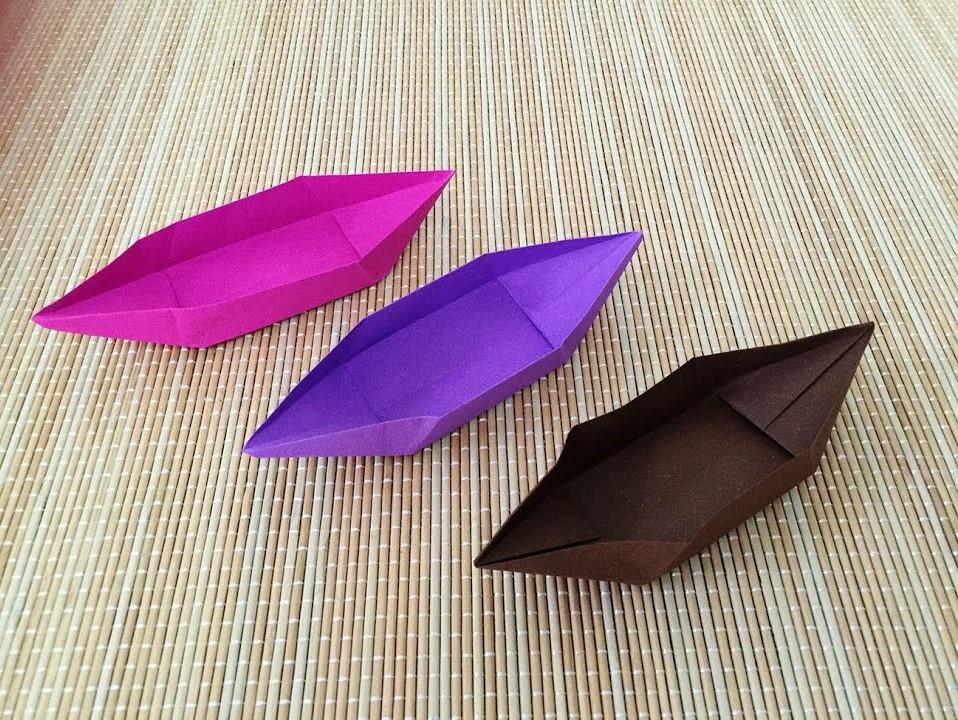 آموزش ساخت قایق کاغذی با طرح متفاوت