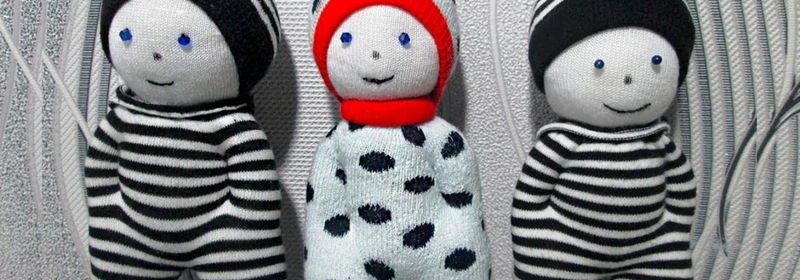 آموزش ساخت عروسک با جوراب مردانه