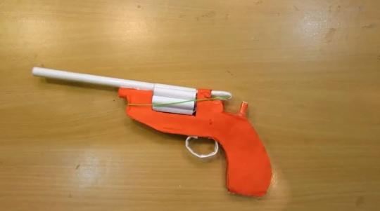 آموزش ساخت تفنگ با کاغذ